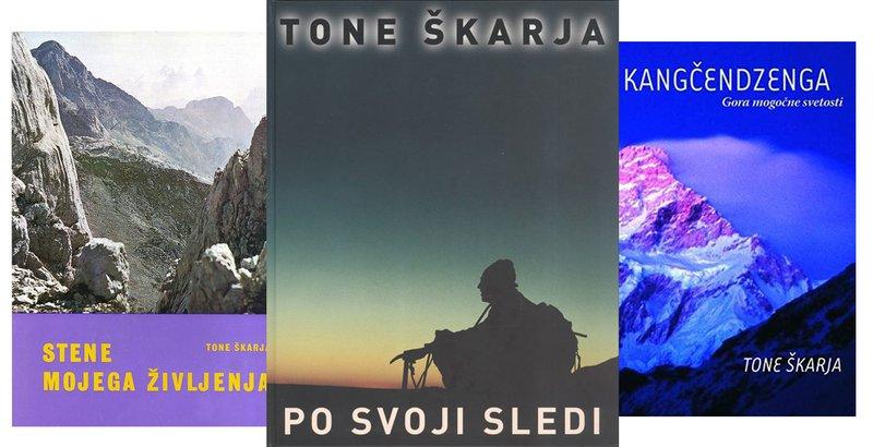 Tone Škarja je bil tudi zelo ploden pisatelj. Bil je pomemben člen pri nastajanju zemljevida Everesta, ki ga je objavil National Geographic. Srečujemo pa ga tudi kot avtorja ali soavtorja številnih knjig.