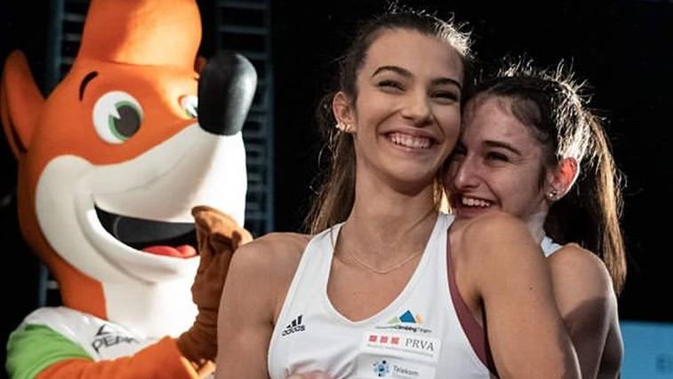 """Mia Krampl in Lučka Rakovec: """"Najboljši prijateljici, ena olimpijska vozovnica."""" (foto: Instagram)"""
