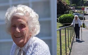 Za navdih: Spoznajte 103-letno Joan. Do svojega 104. leta bo za dober namen prehodila 28 kilometrov. V hrib!