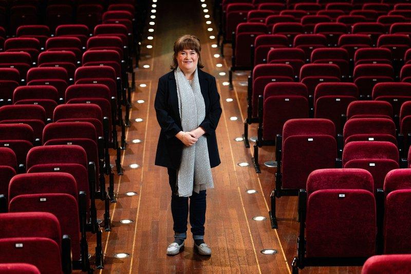 Susan Boyle v Edinburghu, februarja 2020. The Usher Hall.