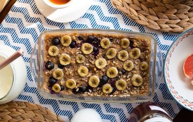 Nadgradnja zajtrka: pečeni ovseni kosmiči z banano