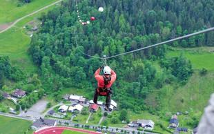 V Črni na Koroškem odprli najdaljšo jeklenico za spuste v Sloveniji! Minuta spusta in 120 km na uro