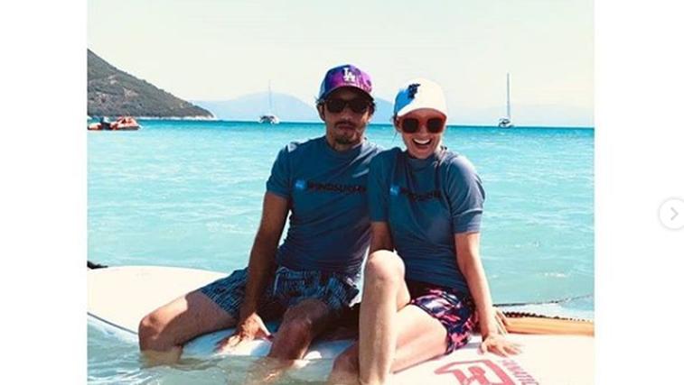 Aljoša in Iva Bagola sta se v Grčiji že drugo leto zapored vpisala v šolo surfanja (foto: Instagram Aljoša Bagola)