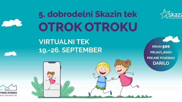 Skazin dobrodelni tek Otrok otroku bo letos potekal v virtualni obliki. (foto: Promocijski material | Skaza)