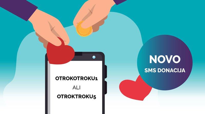Letošnja novost je tudi možnost darovanja sredstev s pomočjo SMS sporočil