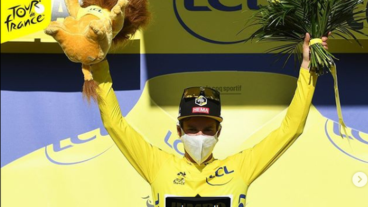 Slovenske sanje na Dirki po Franciji se nadaljujejo: Roglič in Pogačar skupaj na vrhu! (foto: instagram Tour de France)