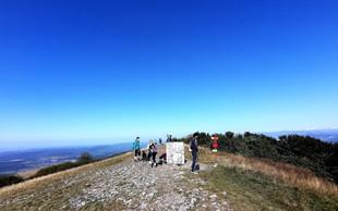 Lep, lahek vzpon - Vremščica (1027 metrov) - najvišja gora v prostranih Senožeških hribih