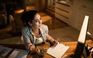 Kako se izogniti nabiranju kilogramov, če delate od doma?