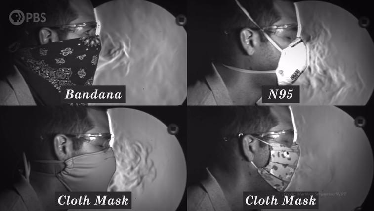 Ta posnetek prikazuje, ali zaščitne maske v resnici pomagajo ustaviti širjenje koronavirusa (foto: It's Okay To Be Smart | YouTube)