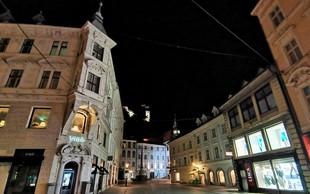 Fotoreportaža: Ljubljana ob začetku policijske ure - prazna in žalostna