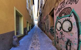 Sončno popoldne: po prenovljeni ulici Reber na Ljubljanski grad