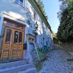 Sončno popoldne: po prenovljeni ulici Reber na Ljubljanski grad (foto: DDD)