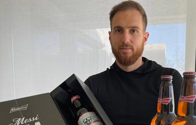 Jan Oblak prejel 10 steklenic piva z Messijevo podobo za vsak Argentinčev gol
