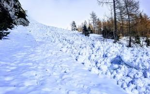 Planinska zveza Slovenije opozarja: Bodite pripravljeni tudi na snežni plaz!