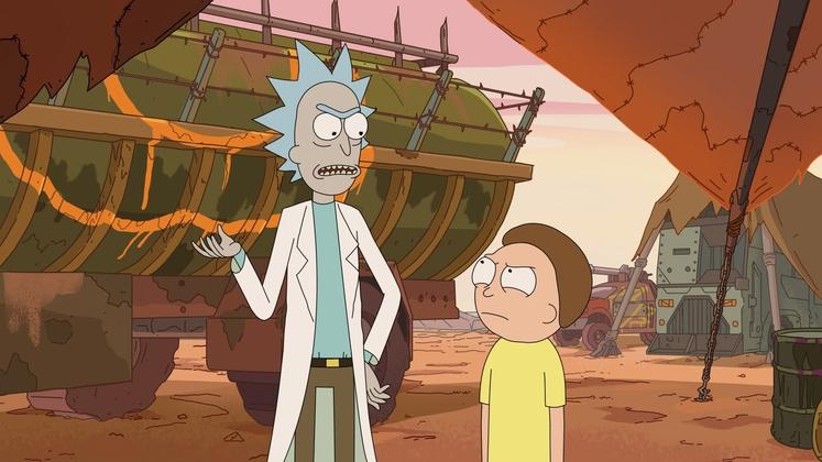 """RICK AND MORTY V znanstvenofantastični risanki za odrasle spoznamo """"norega"""" znanstvenika Ricka Sancheza in njegovega vnuka Mortyja Smitha. Gledalci so …"""