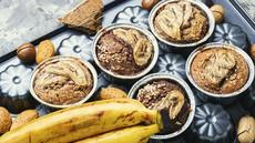 Recept: bananini mafini z grškim jogurtom (brez sladkorja)