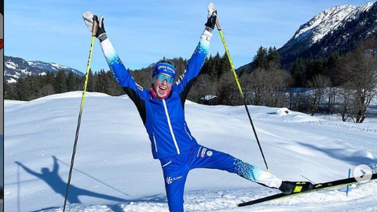 Anamarija Lampič druga v sprintu v zelo mrzlem Falunu (foto: Instagram)
