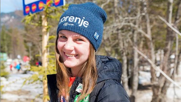 Še zlata medalja za Slovenijo! Ema Klinec - svetovna prvakinja v ženskih smučarskih skokih! (foto: Instagram)