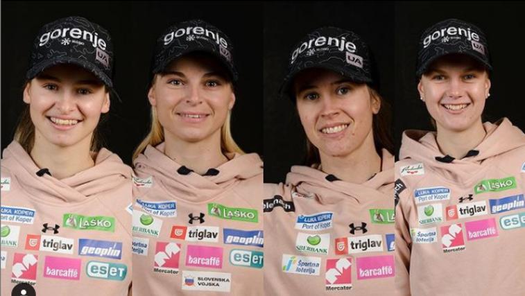 Noro! Že tretja medalja v Obersdorfu: Slovenke srebrne na ekipni tekmi v smučarskih skokih (foto: Instagram)