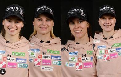 Noro! Že tretja medalja v Obersdorfu: Slovenke srebrne na ekipni tekmi v smučarskih skokih
