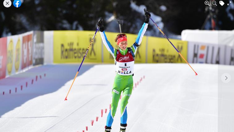 Lena Repinc na mladinskem svetovnem prvenstvu v biatlonu osvojila dve zlati in eno srebrno medaljo. Fak navdušen! (foto: Facebook JF)