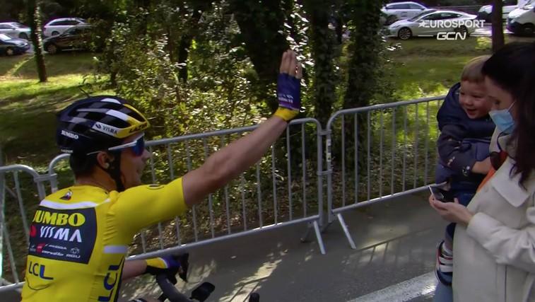 Fantastično! Roglič zmagal že tretjo etapo v dirki Pariz Nica in 50. zmago v karieri (foto: Instagram eurosport)