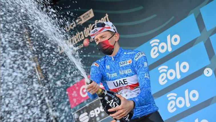 Čudežni Tadej Pogačar zmagovalec prestižne dirke od Tirenskega do Jadranskega morja (foto: Instagram)
