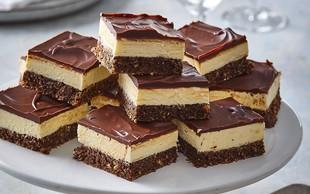 RECEPT: Tu so legendarne – sočne in čokoladne – NANAIMO ploščice (v treh različicah in ne, ne pečejo se)