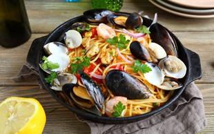 Recept: Špageti z morskimi sadeži