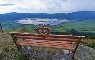 Klopce ljubezni po Sloveniji: ste jih že odkrili? Dodajamo zemljevid in nekaj najbolj priljubljenih!  #klopcaljubezni  #benchoflove