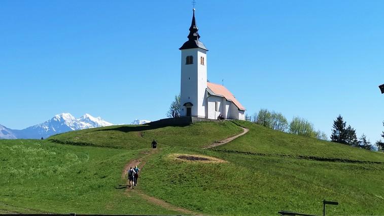 Križna gora in cerkev sv. Križa nad Škofjo Loko (680 m) (foto: DDD)