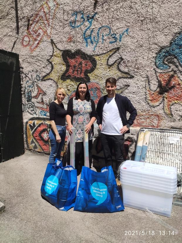 JYSK z donacijo razveselil Društvo prijateljev mladine Trbovlje in otroke opremil za poletni tabor (foto: Jaka Ivanetič)