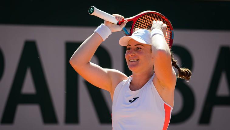 Tamara Zidanšek po Mimi Jaušovec dosegla največji uspeh slovenskega tenisa: med osem najboljših v Roland Garrosu (foto: profimedia)