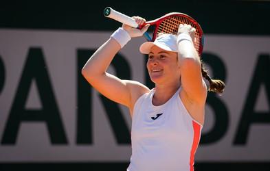 Sanjsko! Slovenska teniška igralka Tamara Zidanšek v polfinalu Roland Garrosa