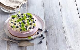 Osvežilna borovničeva chia puding torta brez pečenja (tudi veganska različica!)