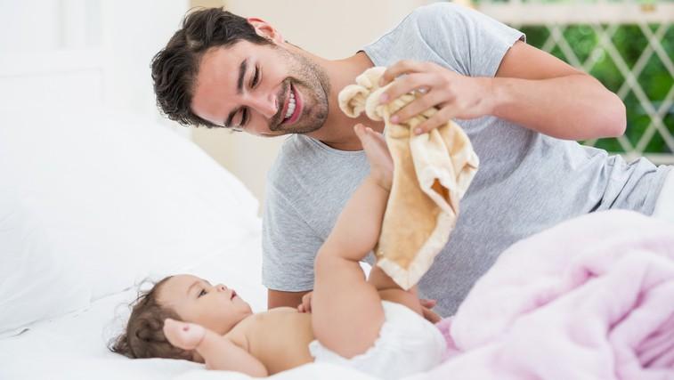 Študija pravi, da je mogoče že pred rojstvom otroka ugotoviti, kako se bo moški izkazal v vlogi očeta (foto: Profimedia)