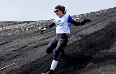 Ana Čufer po Triglavu postavila še svetovni rekord v spustu z aktivnega vulkana Etna!