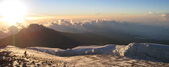 Vrh najvišje afriške gore Kilimanjaro.