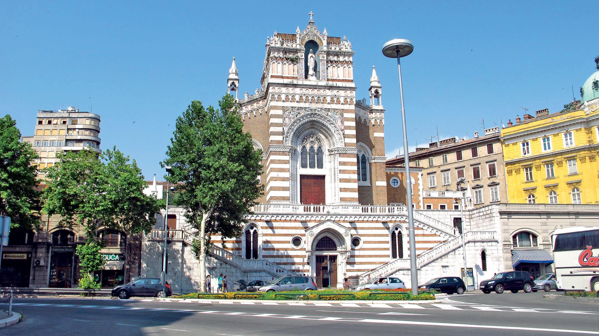 Kapucinska cerkev, Reka