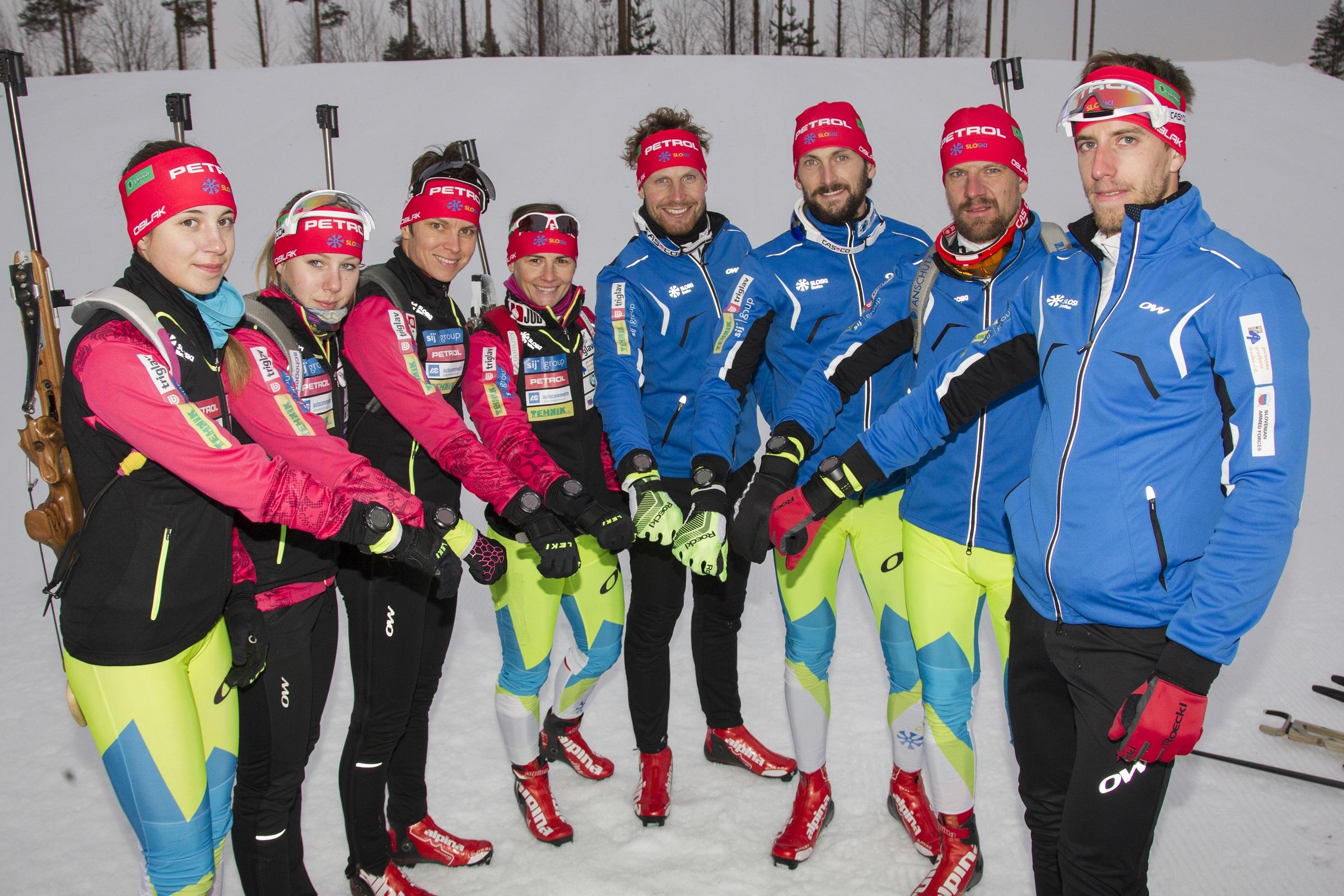 Slovenski biatlonci